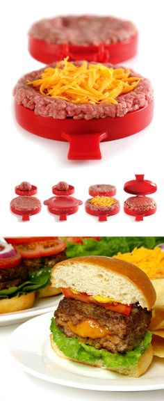 Stuffed Burger Maker // #grilling #giftidea