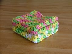 Crocheted Dishcloth Pattern