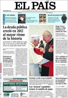 Los Titulares y Portadas de Noticias Destacadas Españolas del 17 de Febrero de 2013 del Diario El País ¿Que le parecio esta Portada de este Diario Español?