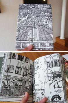 City drawings, a healthy sketchbook practice Sketchbook Drawings, Artist Sketchbook, Drawing Sketches, Art Drawings, Travel Sketchbook, Architecture Sketchbook, Design Blog, The Design Files, City Drawing