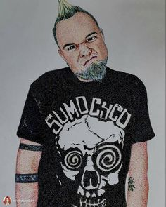 Great piece from Good Art Guide artist @darkadreneline9 check them out at www.goodartguide.com . . . @radioghostmusic Sumo Cyco I hope you like my #fanart extreme #pointillism #drawing  I must be insane as this took 2 months of sorting and now I\'m rather dotty?!!!?!!! #sumocyco #sumocycofan #sumocycoart #art #artist #artistsoninstagram #artwork #artnerd #inkdrawing #copicdrawing #copicmultiliners #copic #copicsketch #copicart #artistic #drawingpeople #drawnbyme #pointillist #pointillistart
