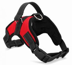 "ME.FANâ""¢ Dog Vest Harness Saddle Dog Harness Outdoor Durable Handle Adjustable and Heavy Duty Fabric Dog Training Working Collar for Small/Medium/Large/Extra Large Dog (Red) * Hurry! Check out this great product : Harnesses for dogs"