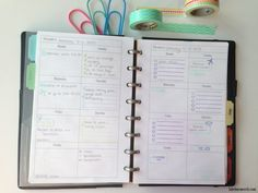 Homework planning  Planner Organization: 2015 planner tour week per page by Label Me Merrit