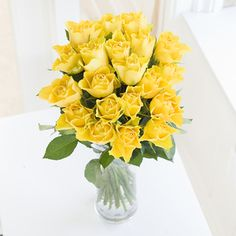 Flowers Direct Just Roses - Yellow Yellow is the colour of happiness and these gorgeously sunny Roses will bring joy to any occasion http://www.comparestoreprices.co.uk/flowers-and-flower-delivery/flowers-direct-just-roses--yellow.asp