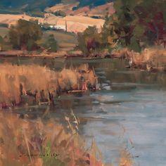 """Private Waters"" by Scott Christensen, 12"" x 12""."