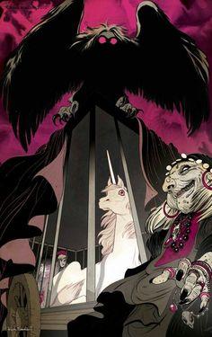Artwork for The Last Unicorn by Frank Stockton