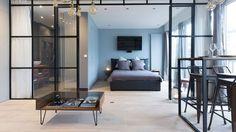 Un 50 m2 revu façon loft lumineux et design