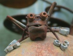 Frog garden art by Tanya Puntti (SLR Photography Guide), via Flickr