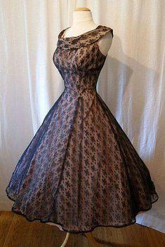 Vestido años 50
