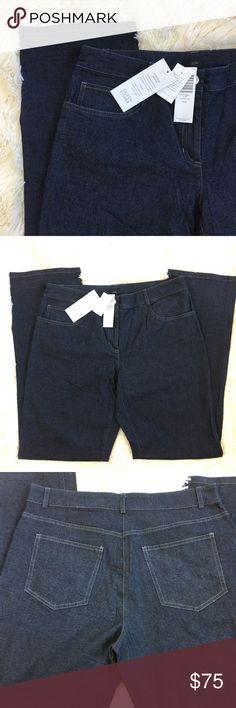 NWT Eileen Fischer Stretch Denim Jeans New pants from Eileen Fischer. Dark blue denim. Will post measurements soon! Eileen Fisher Pants Straight Leg