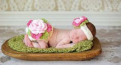Baby And Blossoms Floweret Style Cute Crochet Photography Prop Dress For New Born Babies,Toddlers.