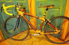 Yep bikes can be made of bamboo also! What a great material.