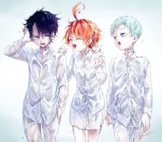 Read The Promised Neverland / Yakusoku no Neverland Manga chapters in English online! I Love You Drawings, My Drawings, Otaku Anime, Manga Anime, My Little Pony Games, Dark And Twisted, Cute Anime Character, Cute Anime Pics, Anime Angel
