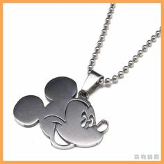 Free Shipping Fashion jewelry Mickey Mouse Head Pendant 316L Stainless Steel Necklaces Mens Necklaces 06083-in Pendant Necklaces from Jewelry & Accessories on Aliexpress.com   Alibaba Group