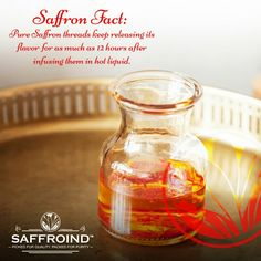 Pure Saffron threads keep releasing its flavor for as much as 12 hours after infusing them in hot liquid for 20 minutes before using it. #saffron #kesar #zafran #fact #factsoflife #factsonly #facts #facts #todaysfacts #funfact #saffronthreads #flavor #bestflavor #righttaste #getperfected #perfecttaste #ingredients #cookingfun #cookwithlove #cookingtime #ChefTip #tipsforcooking #cookingtips #chef