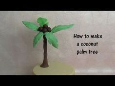 How to make a gumpaste coconut tree for a cake - ENGLISH - YouTube