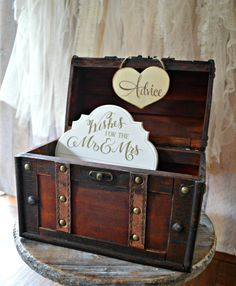 Advice for the bride and groom trunk box by MorganTheCreator