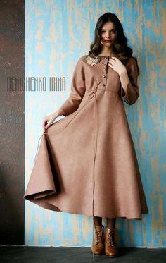 Валяное платье «Vintage». Handmade. #felting