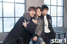 kim taehyung x park jimin x jeon jungkook for @star1 magazine september issue 2015