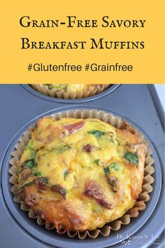 Grain Free Gluten Free Savory Breakfast Muffins Pin drkarenslee