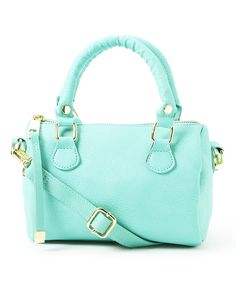 Another great find on #zulily! T-Shirt & Jeans Mint Mini Satchel by T-Shirt & Jeans #zulilyfinds