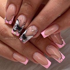 Wedding Nails-A Guide To The Perfect Manicure – Page 1489441379 – NaiLovely Acrylic Nail Designs, Nail Art Designs, Acrylic Nails, Nails Design, Elegant Nails, Stylish Nails, Pastel Nails, Pink Nails, Cute Nails