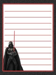 """Darth Vader - Star Wars - Project Life Journal Card - Scrapbooking ~~~~~~~~~ Size: 3x4"""" @ 300 dpi. This card is **Personal use only - NOT for sale/resale** Star Wars/clipart belongs to Disney. *** Click through to photobucket for more versions of this card ***"""