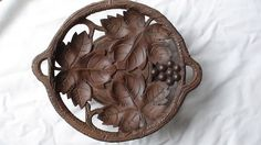 Vintage Black Forest Hand Carved Musical Wooden Dish | eBay