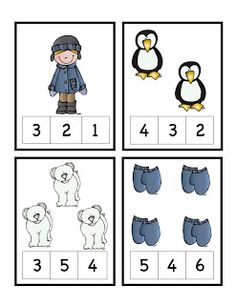 Preschool Printables: Winter Learning Numbers Preschool, Preschool Printables, Preschool Kindergarten, Kids Learning, Pre K Activities, Winter Activities, Classroom Activities, Winter Fun, Winter Theme