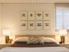 Song lyrics.   midcentury bedroom by yamamar design