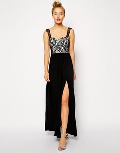 Enlarge ASOS Lace Top Maxi with Split Skirt Dress