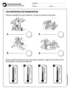 Las estaciones y las temperaturas