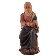 "ESCUELA ESPAÑOLA SIGLO XX ""Virgen"". Talla madera policromada. Medidas: 70 x 25 cm. Algunos desperfectos."