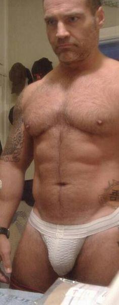 Men In Jockstraps Hot Dads, Athletic Supporter, Sexy Beard, Muscle Bear, Bear Men, Muscular Men, Older Men, Guy Pictures, Hairy Men