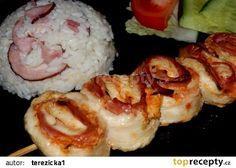 Kuřecí špízy trochu jinak recept - TopRecepty.cz Mashed Potatoes, Cauliflower, Sushi, Chicken Recipes, Sweets, Healthy Recipes, Meat, Vegetables, Cooking