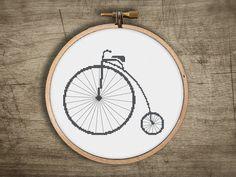 modern cross stitch pattern  big wheel old school por futska