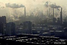 Smokestacks in Linfen China