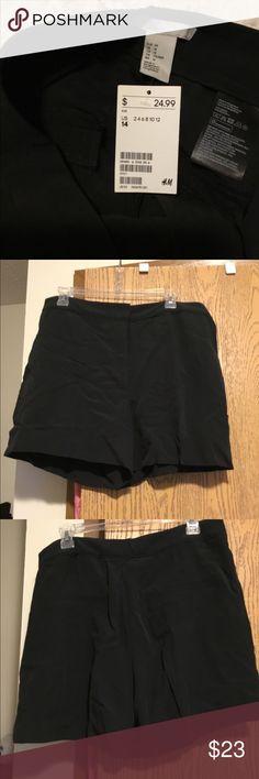 H&M Satin Shorts - brand new never worn H&M Satin Shorts. Never worn. Size 14. Dark Navy, almost black. H&M Shorts