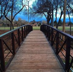 New Post by @SimplySantaFeNM on #Instagram: What a great evening for a walk in the park! Thanks @suzyonfire for sharing this bridge shot from Fort Marcy Park.  #SimplySantaFe #FortMarcyPark