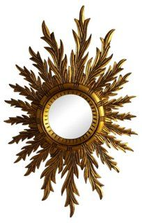 Oval  Sunburst Wood Mirror
