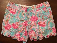 Lilly Pulitzer Buttercup Jellies Be Jammin Shorts Size 00 EUC Women's Pink Blue