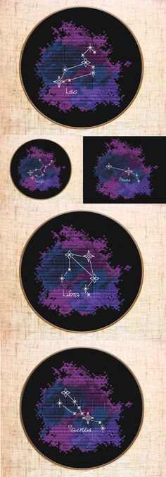 Constellation Cross stitch patterns | Zodiac sign cross stitch Galaxy | Celestial x-stitch #crossstitch #crossstitchpatterns