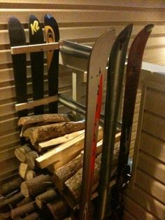 "Outstanding ""Water Skiing"" info is available on our internet site. Check it out and you will not be sorry you did. Ski Lodge Decor, Firewood Storage, Firewood Holder, Ideas Hogar, Vintage Ski, Snow Skiing, Home Projects, Repurposed, Travel Trailers"
