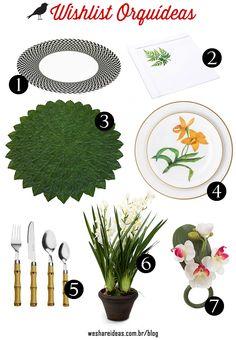 produtos mesa posta inspirados nas orquídeas.
