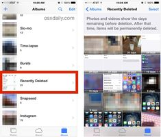 Recover deleted pictures on the iPhone