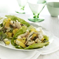 10 Healthy Ideas for Chicken: Mango Chicken Lettuce Wraps