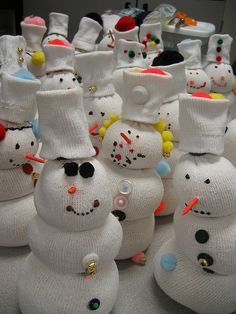 Tube Sock Snowmen