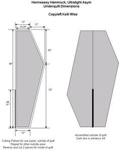DIY Hammock Down Underquilt Pattern