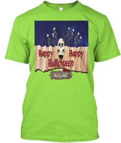 Happy Halloween T Shirt Lime T-Shirt Front