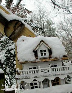 Birdhouses in the Snow